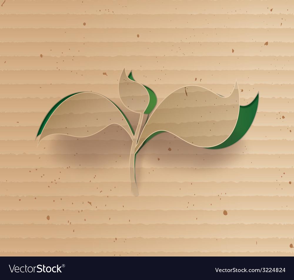 Tree cardbroad vector