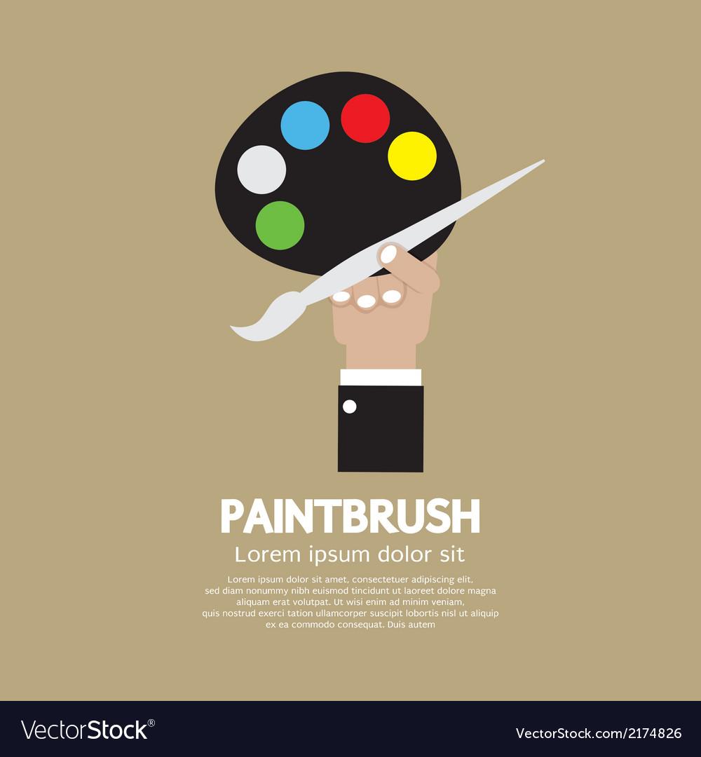 Artist color palette vector