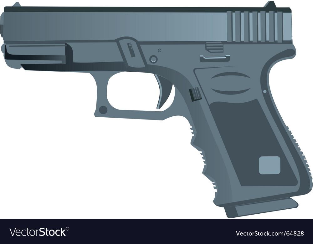 Police pistol vector