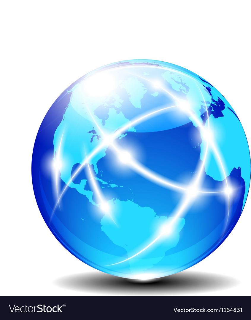 America europe africa global communication vector
