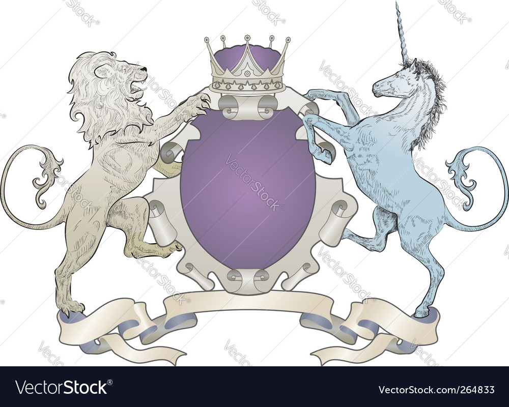 Coat of arms shield vector