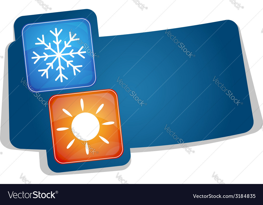 Air conditioning advertising vector