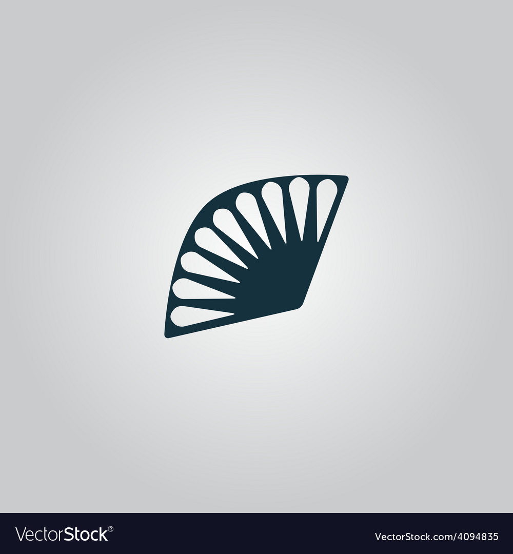 Fan icon isolated vector