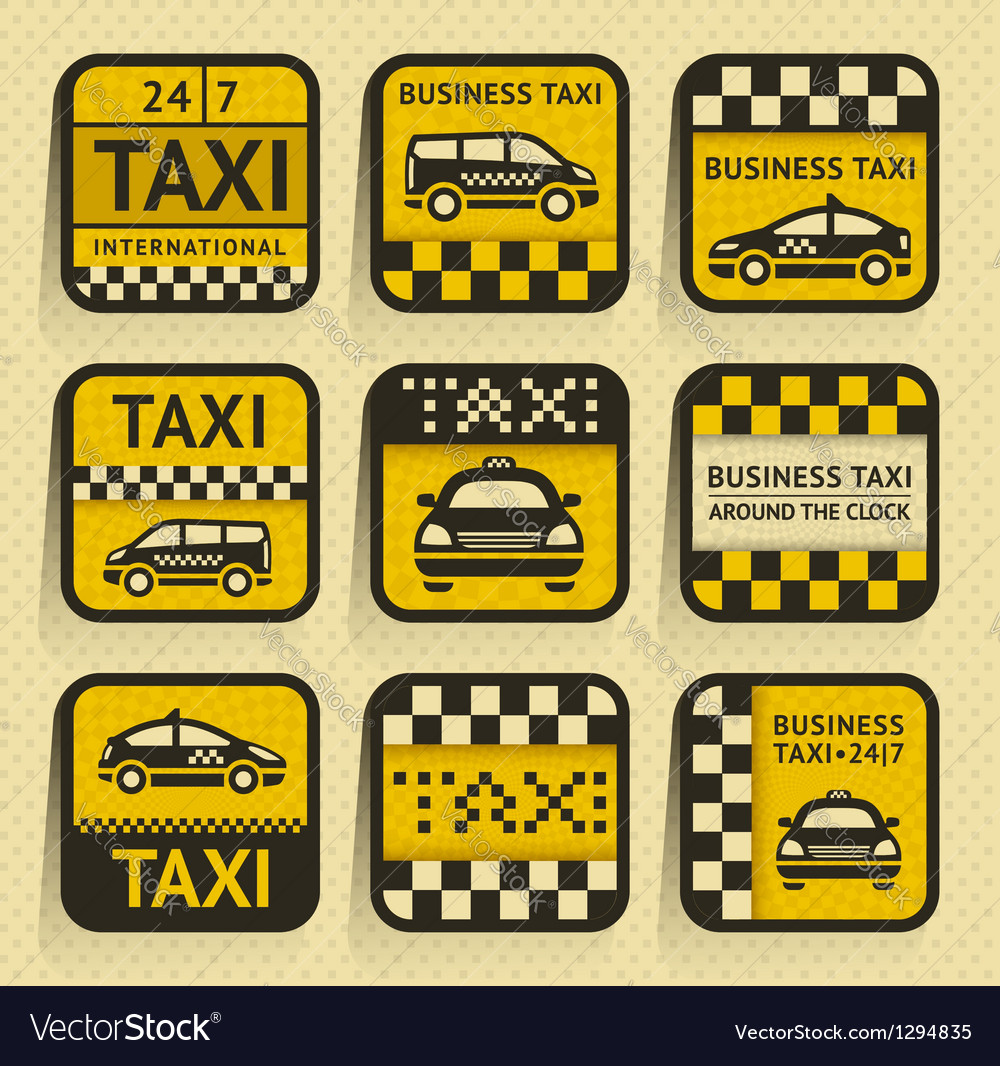 Taxi insignia old style vector