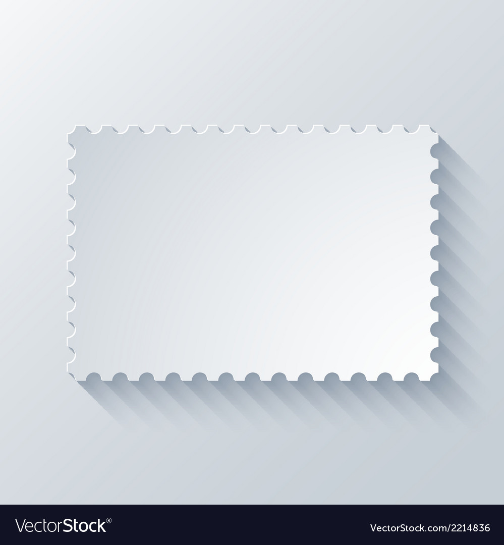Modern postage background vector