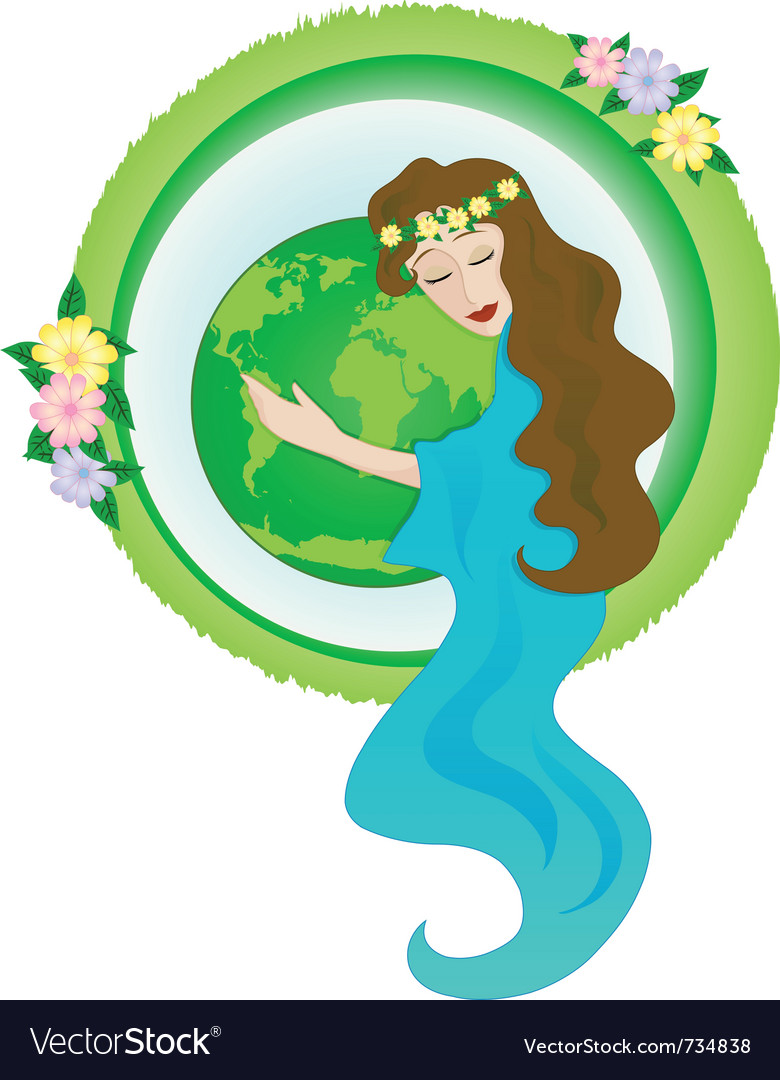 Mother nature vector