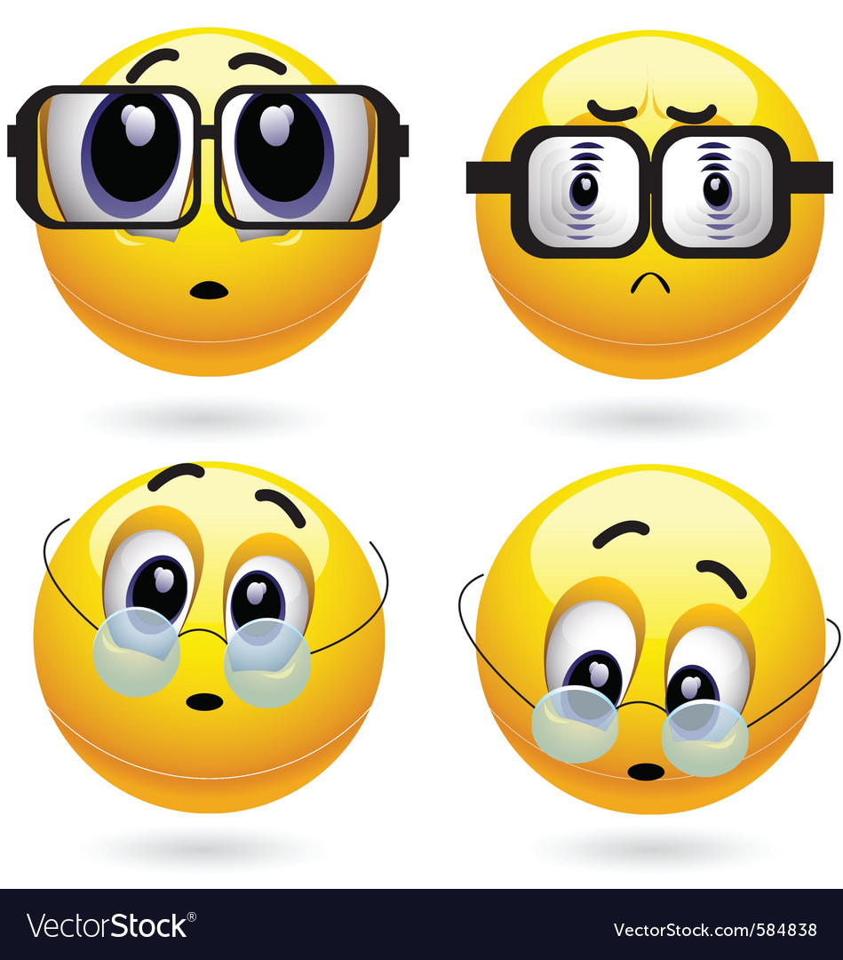 Smiley characters vector