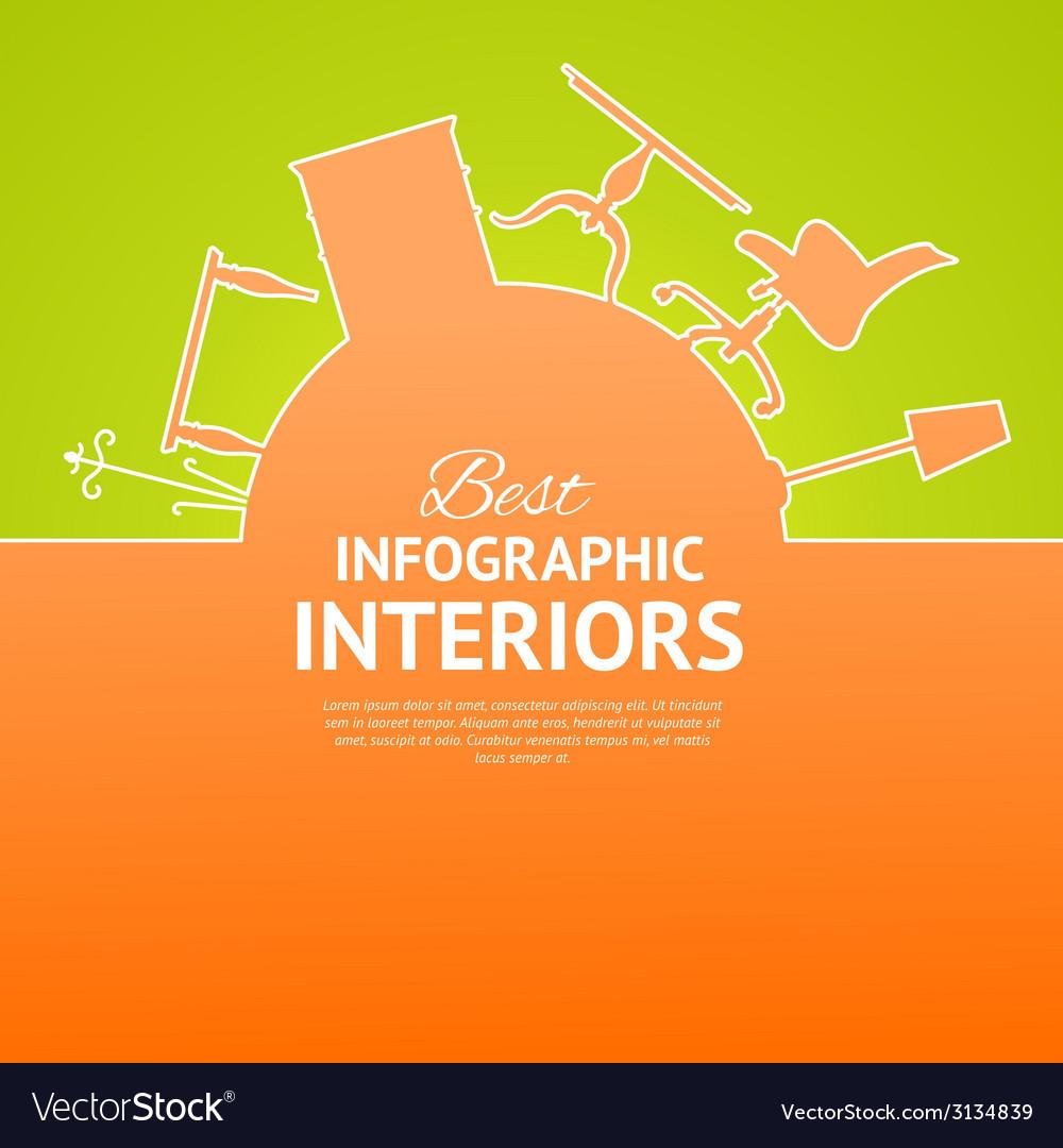 Interior circle infographics vector