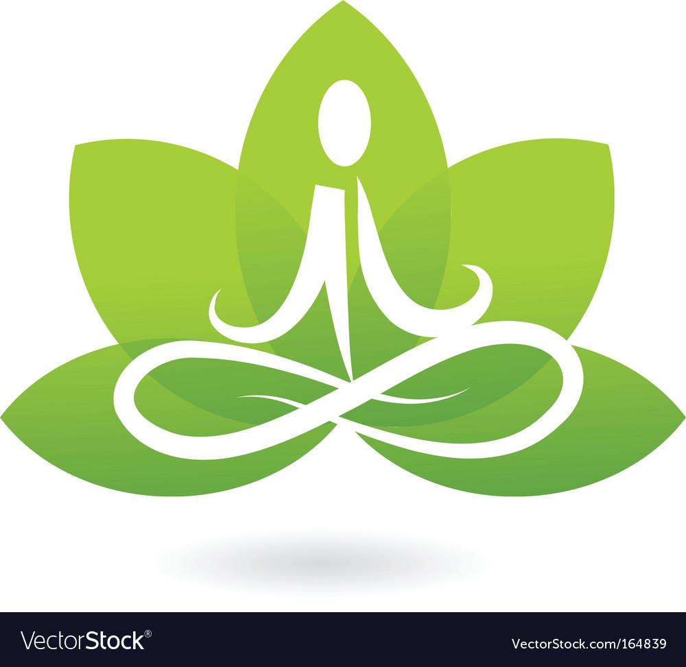Yoga lotus logo vector