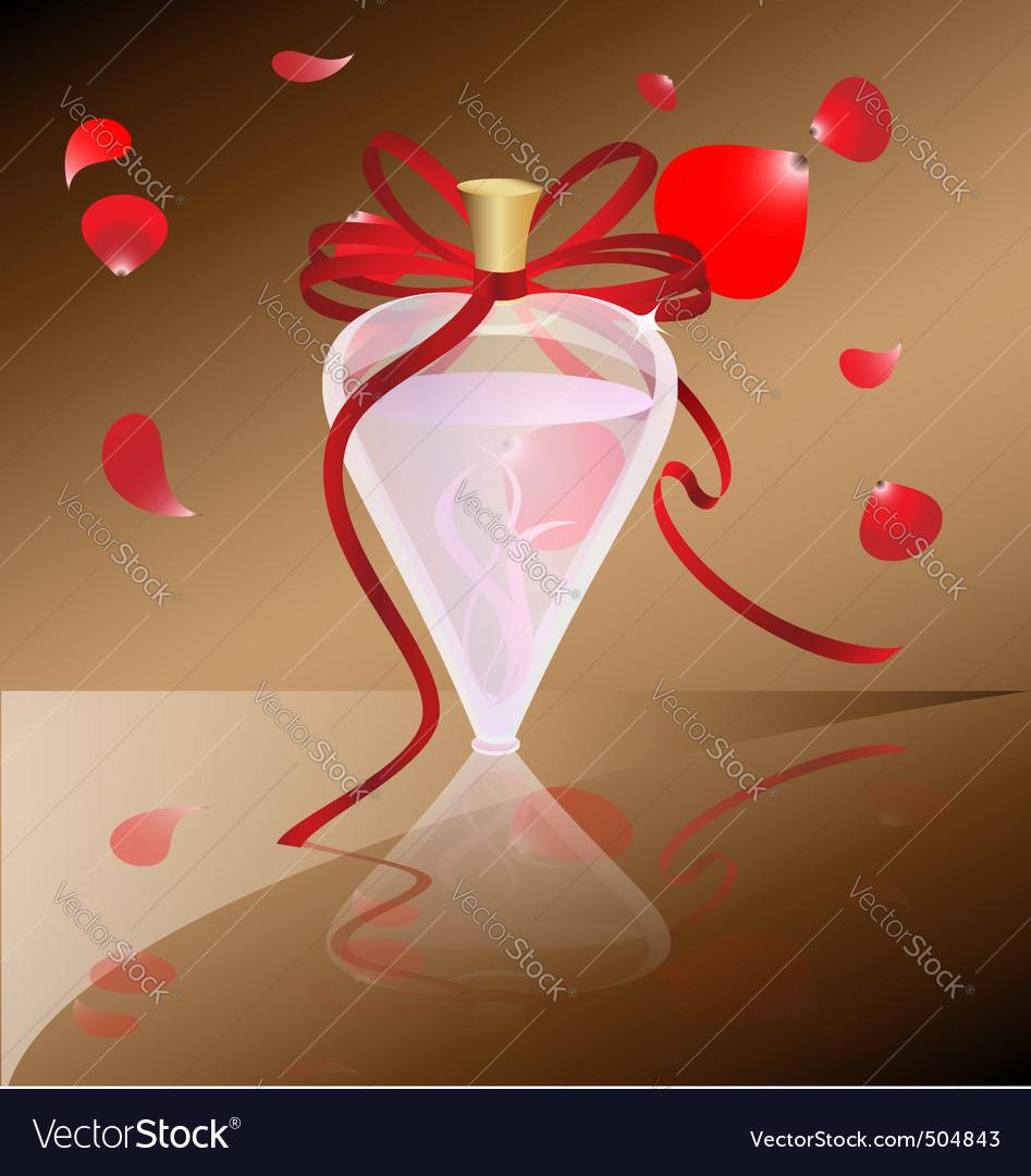Perfume and petals vector