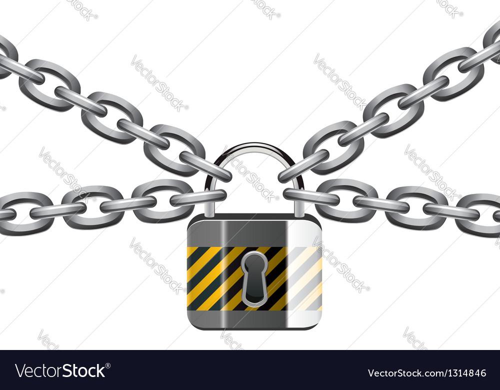 Chain and padlock vector