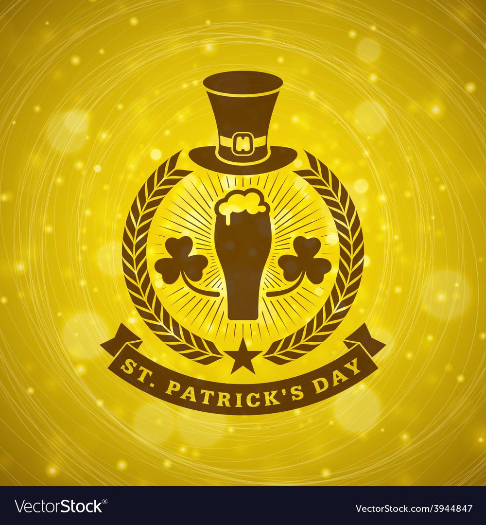 St patricks day vintage holiday badge design vector