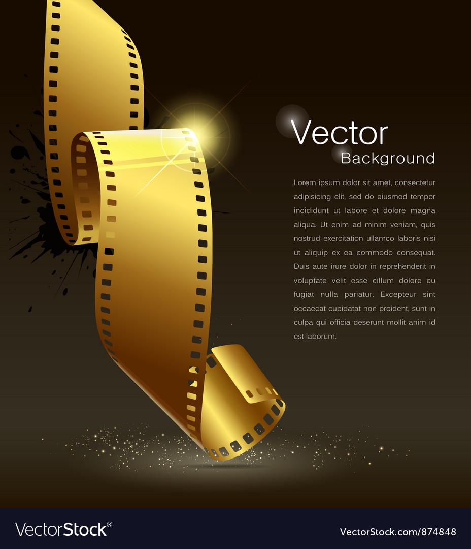Camera film roll gold color vector