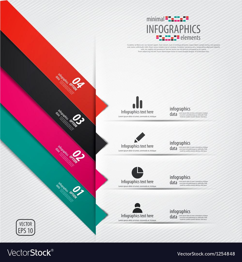 Minimal infographics design elements vector