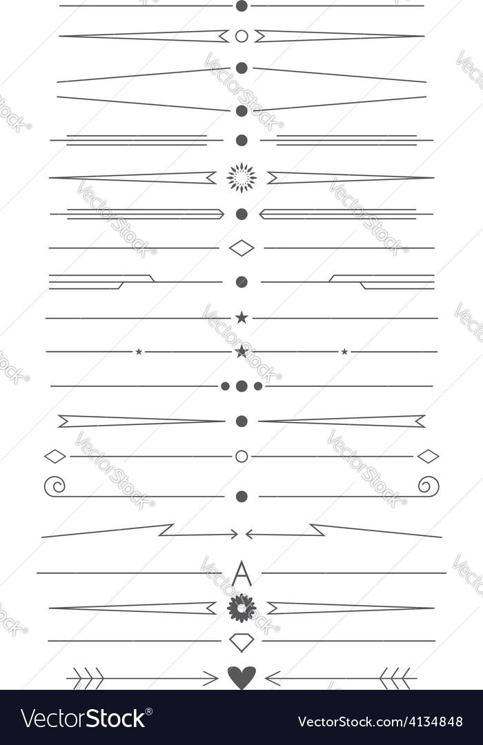 Set of simple design elements vector