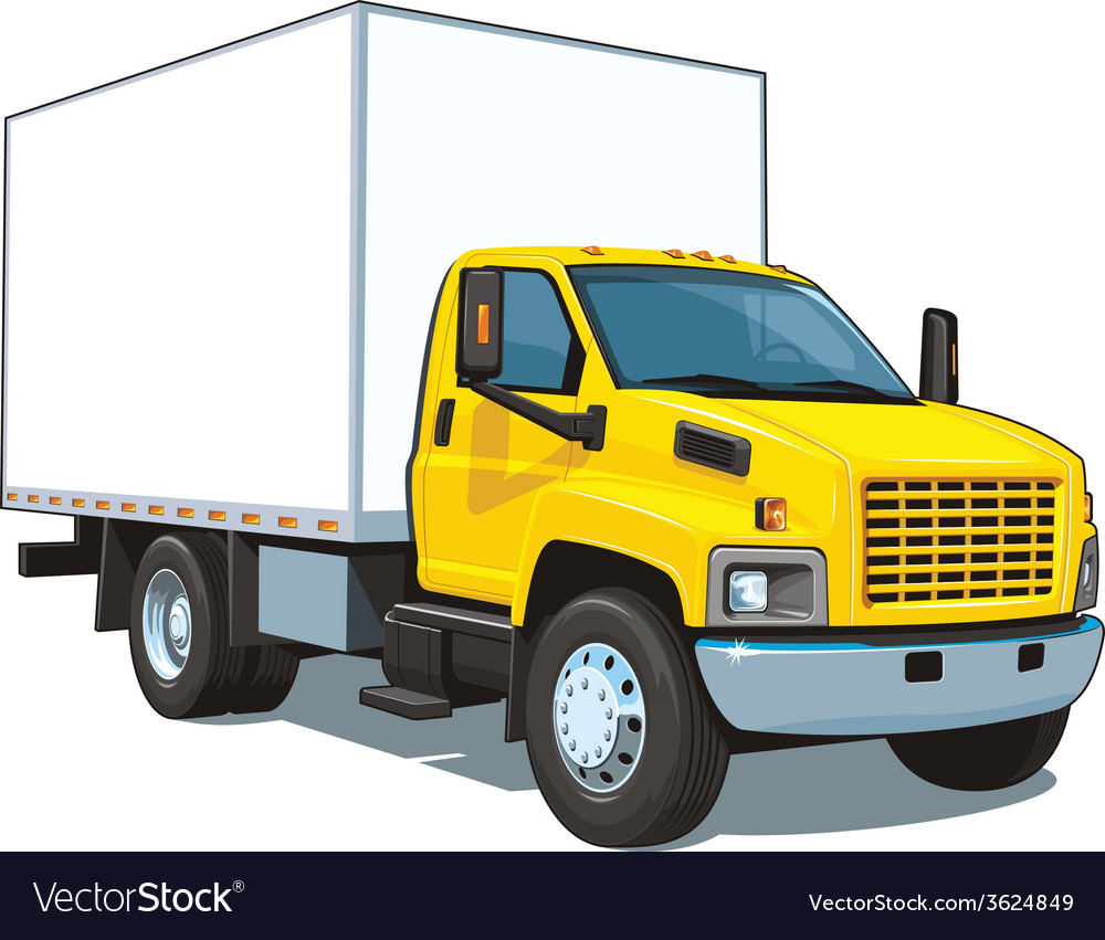 Commercial truck vector