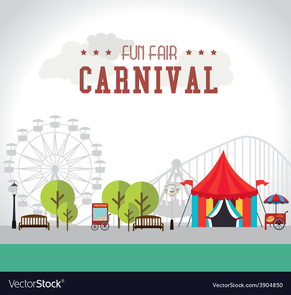 Carnival design over white background vector