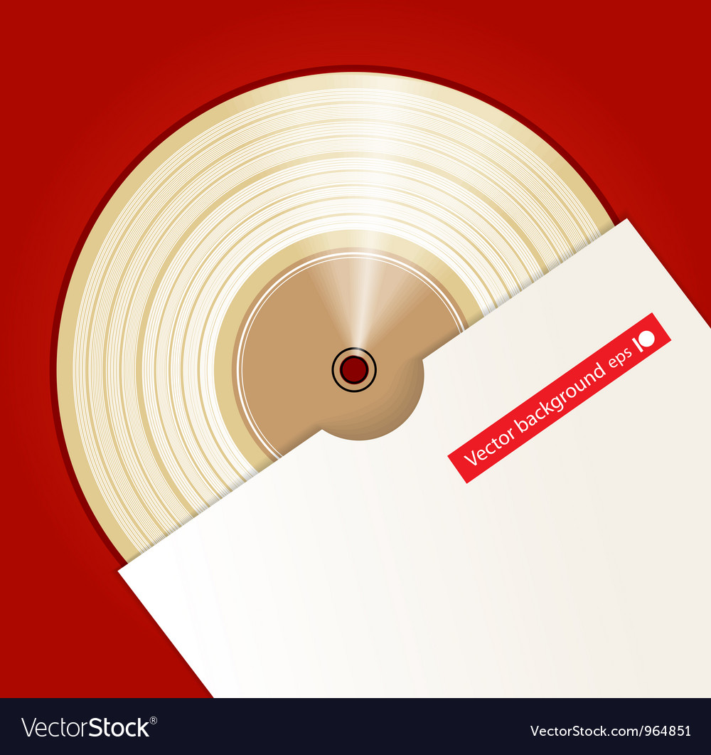 Platinum cd prize with cover vector