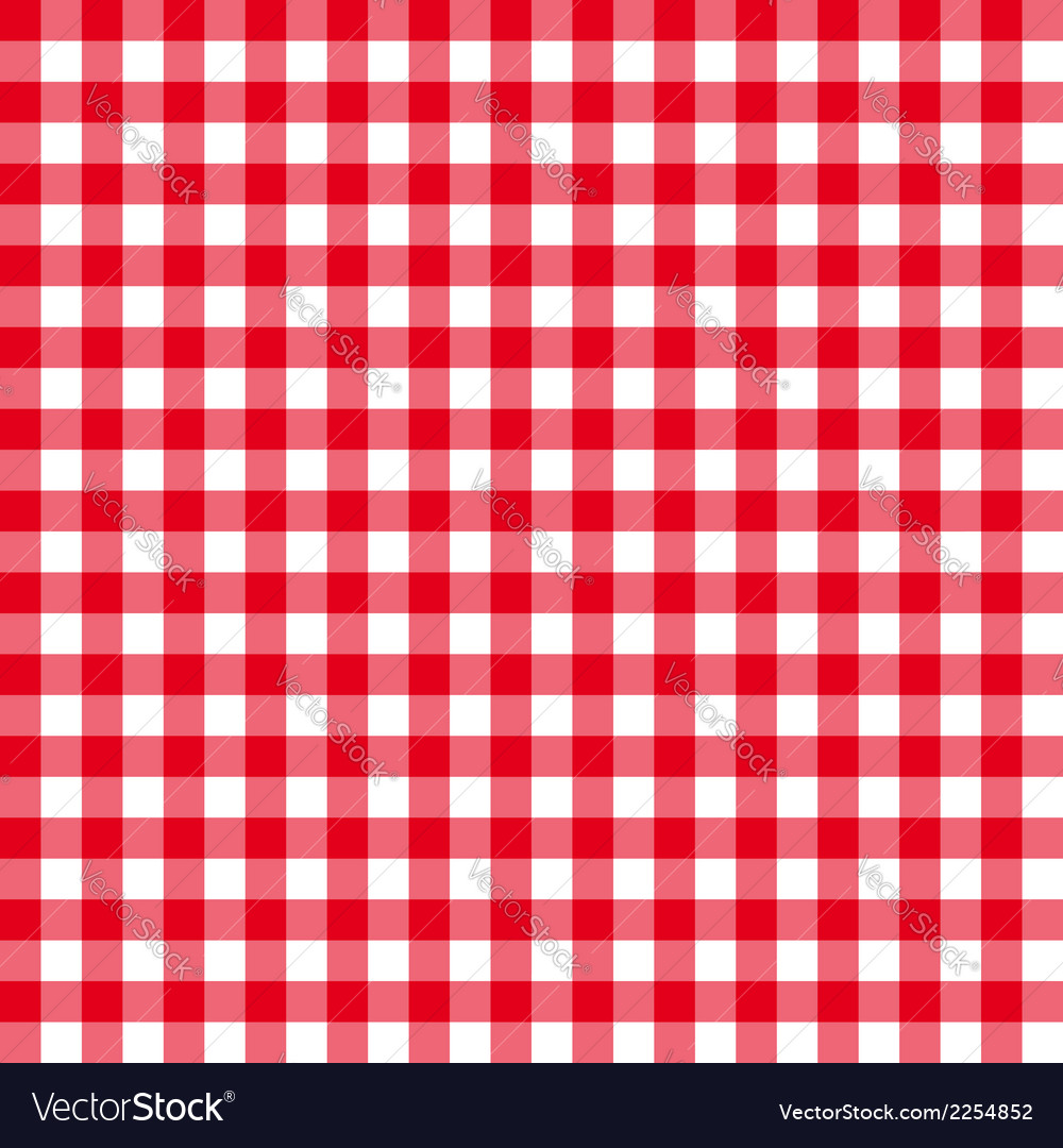 Table cloth seamless pattern red in line vector