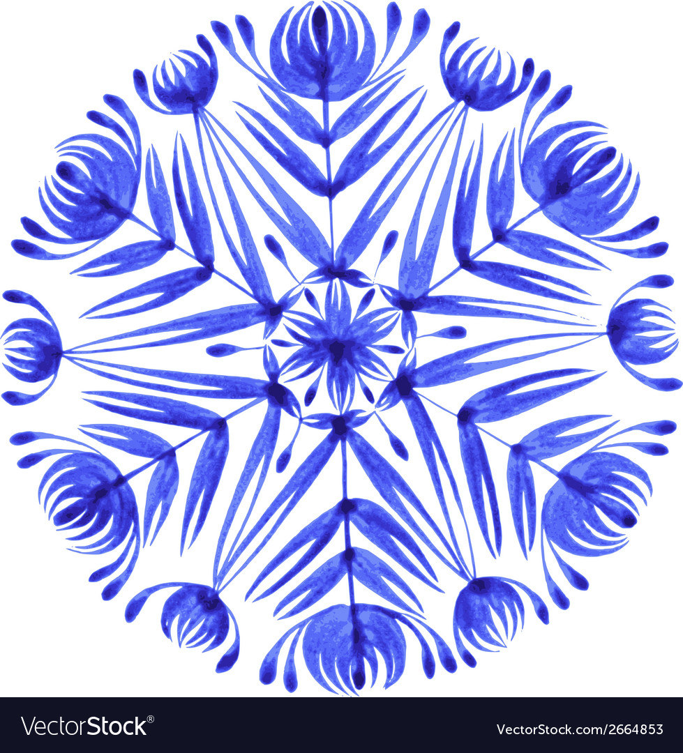 Floral decorative ornament snowflake vector