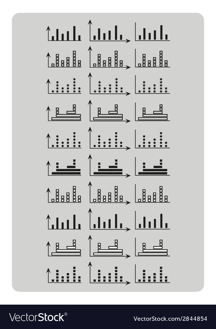 Different graph chart set for business infographic vector