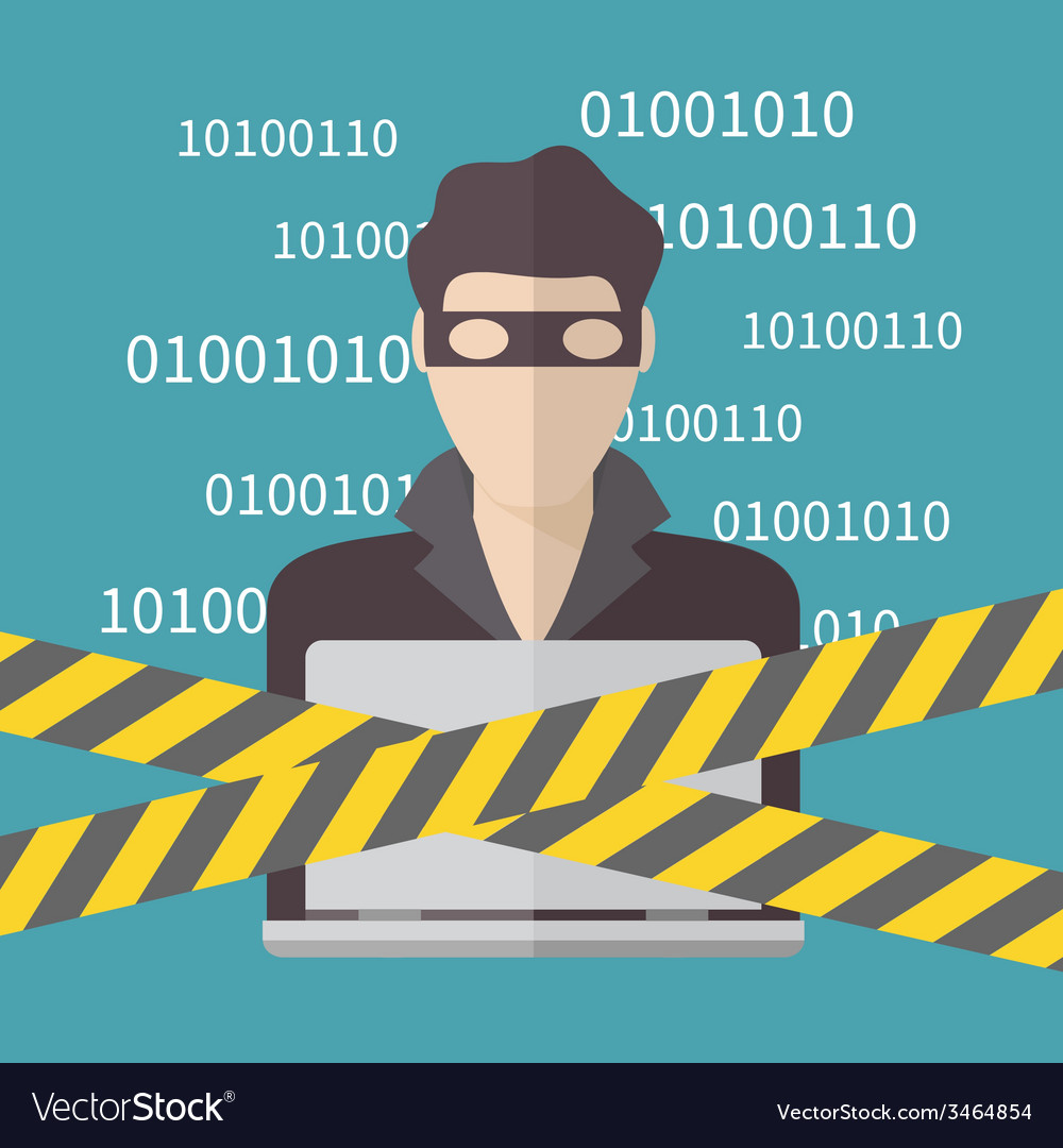 Hacker internet security concept vector