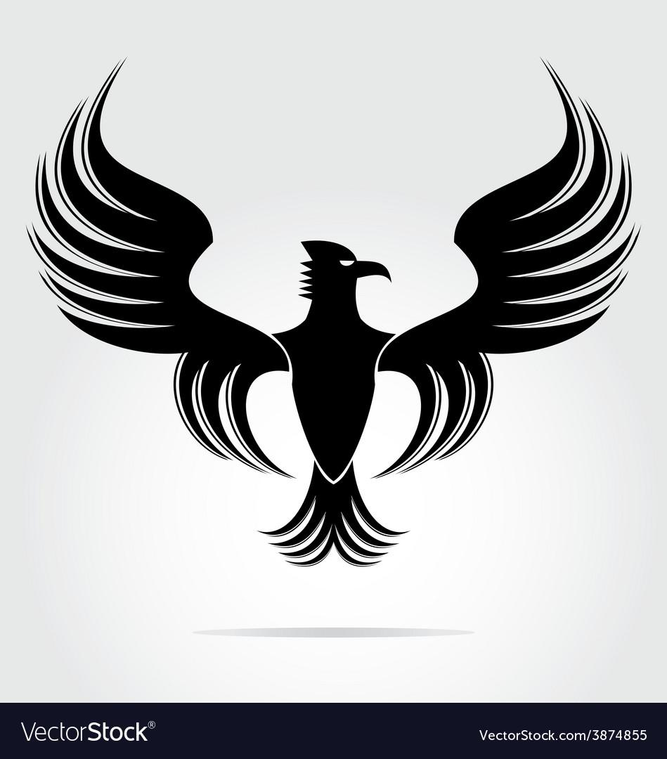 Eagle bird art vector