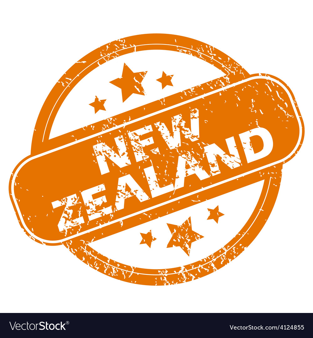 New zealand grunge icon vector