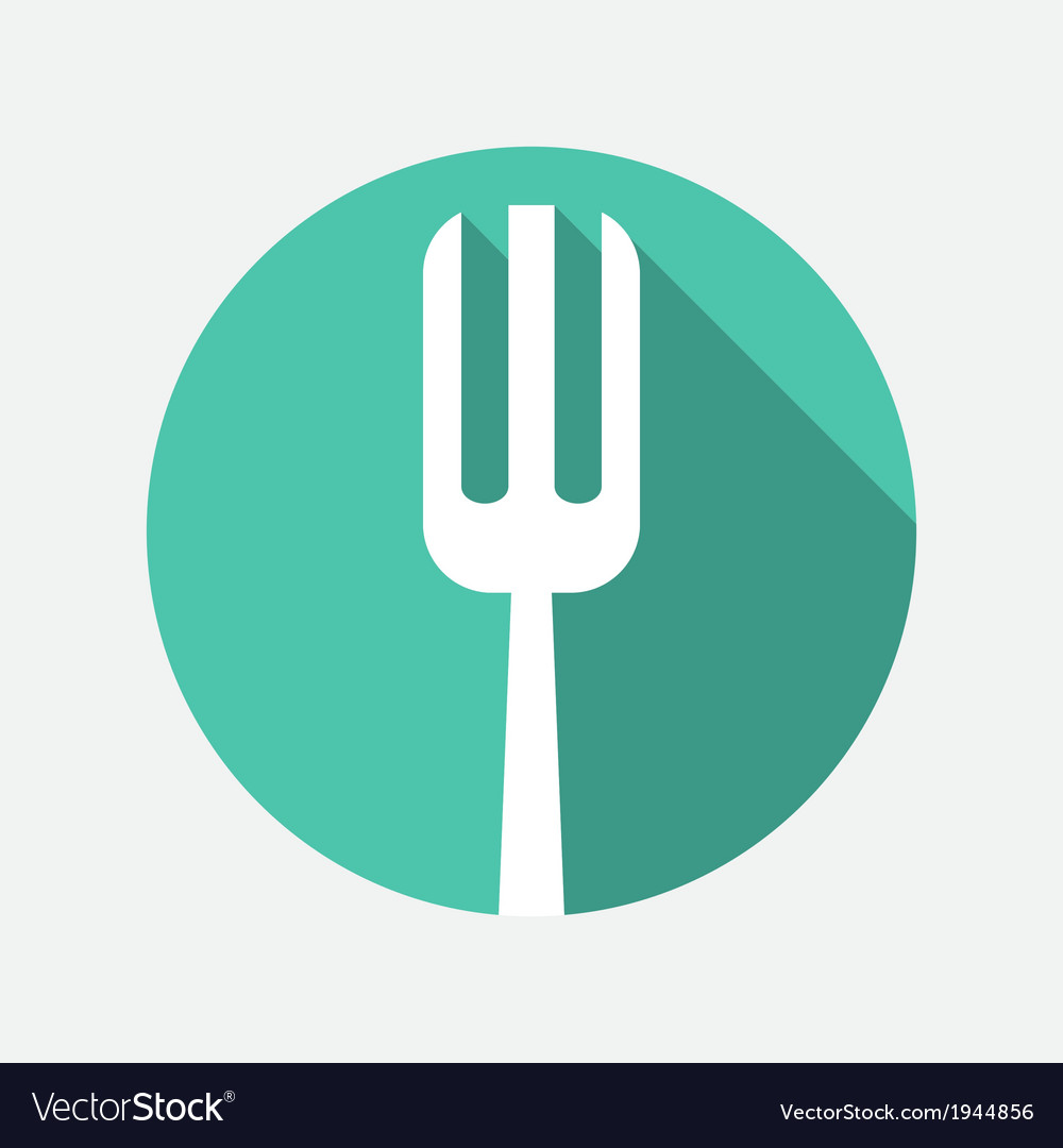 Fork icon vector