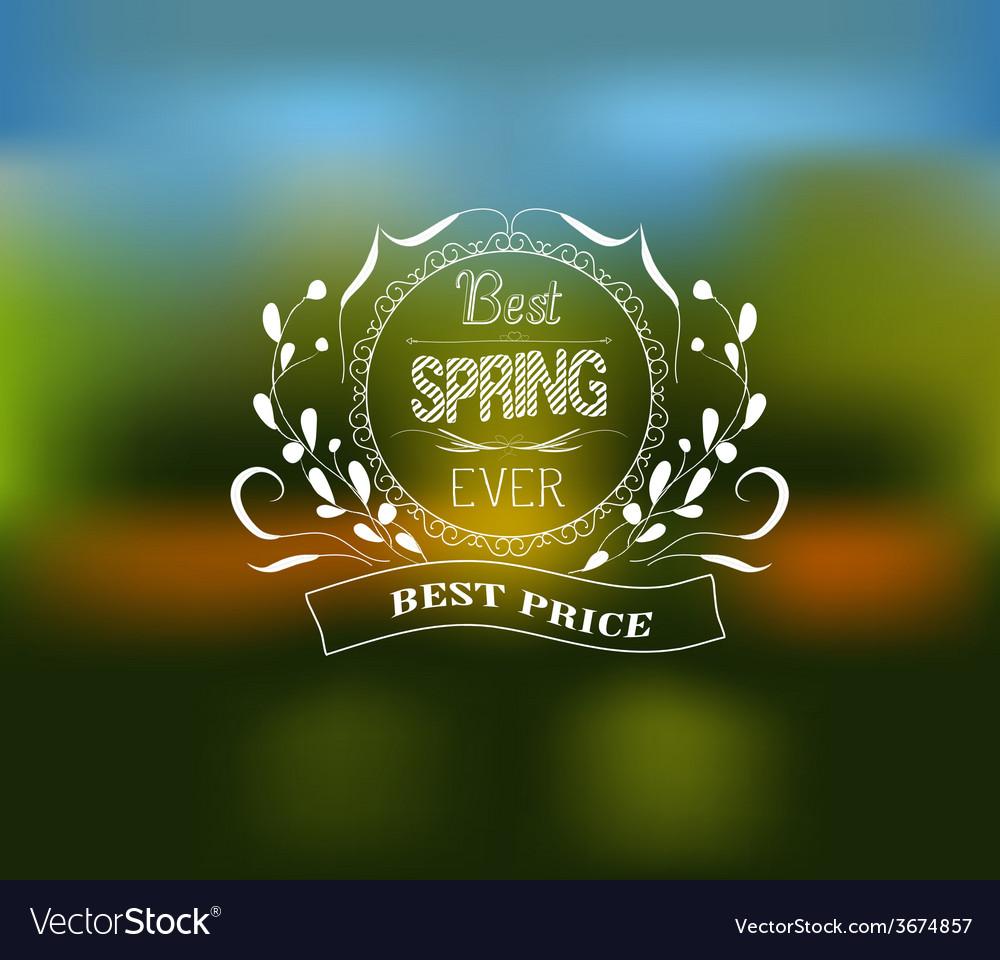 Best spring typographic design vector