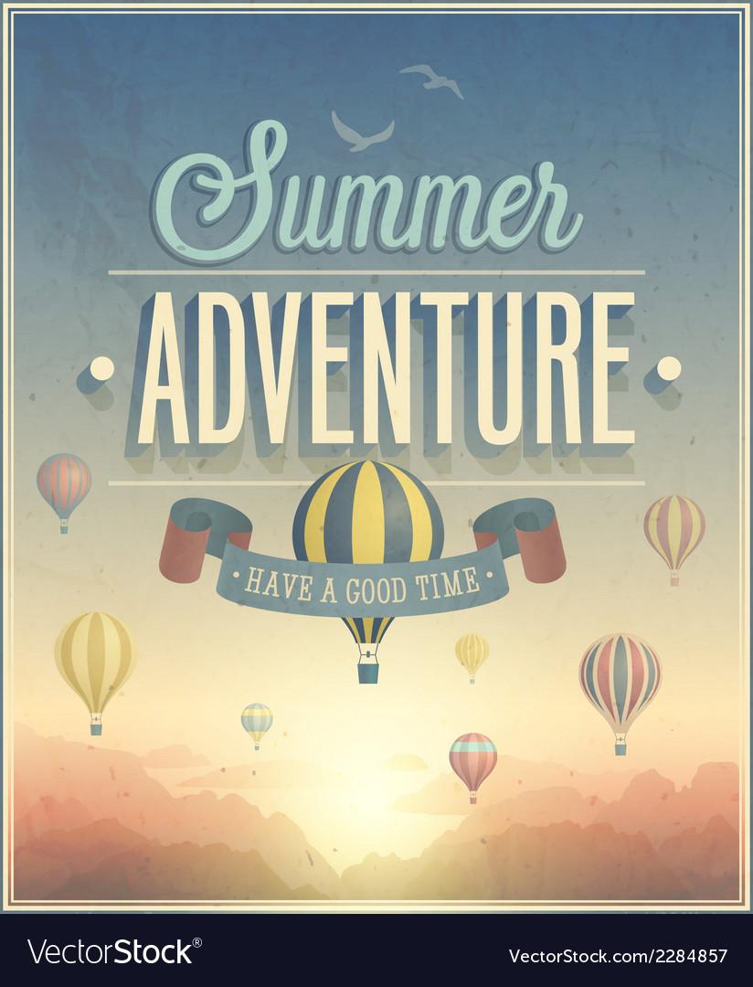 Summer adventure vector