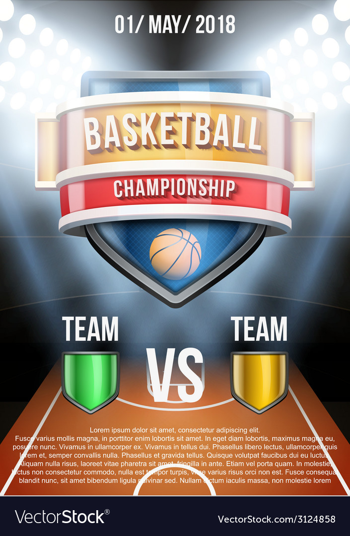 Background for posters basketball stadium game vector