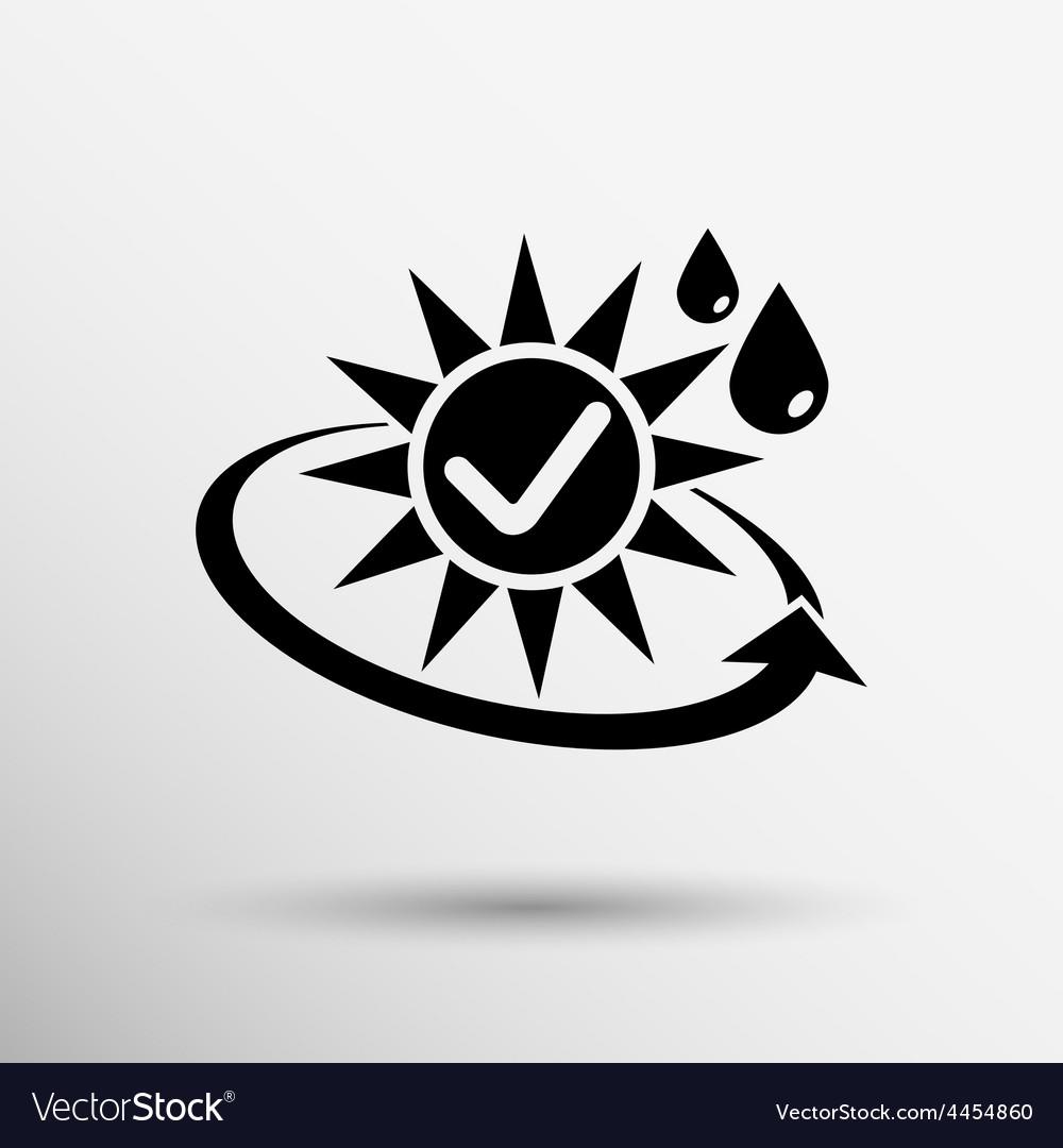 Sun protection block icon sunblock skin isolated vector