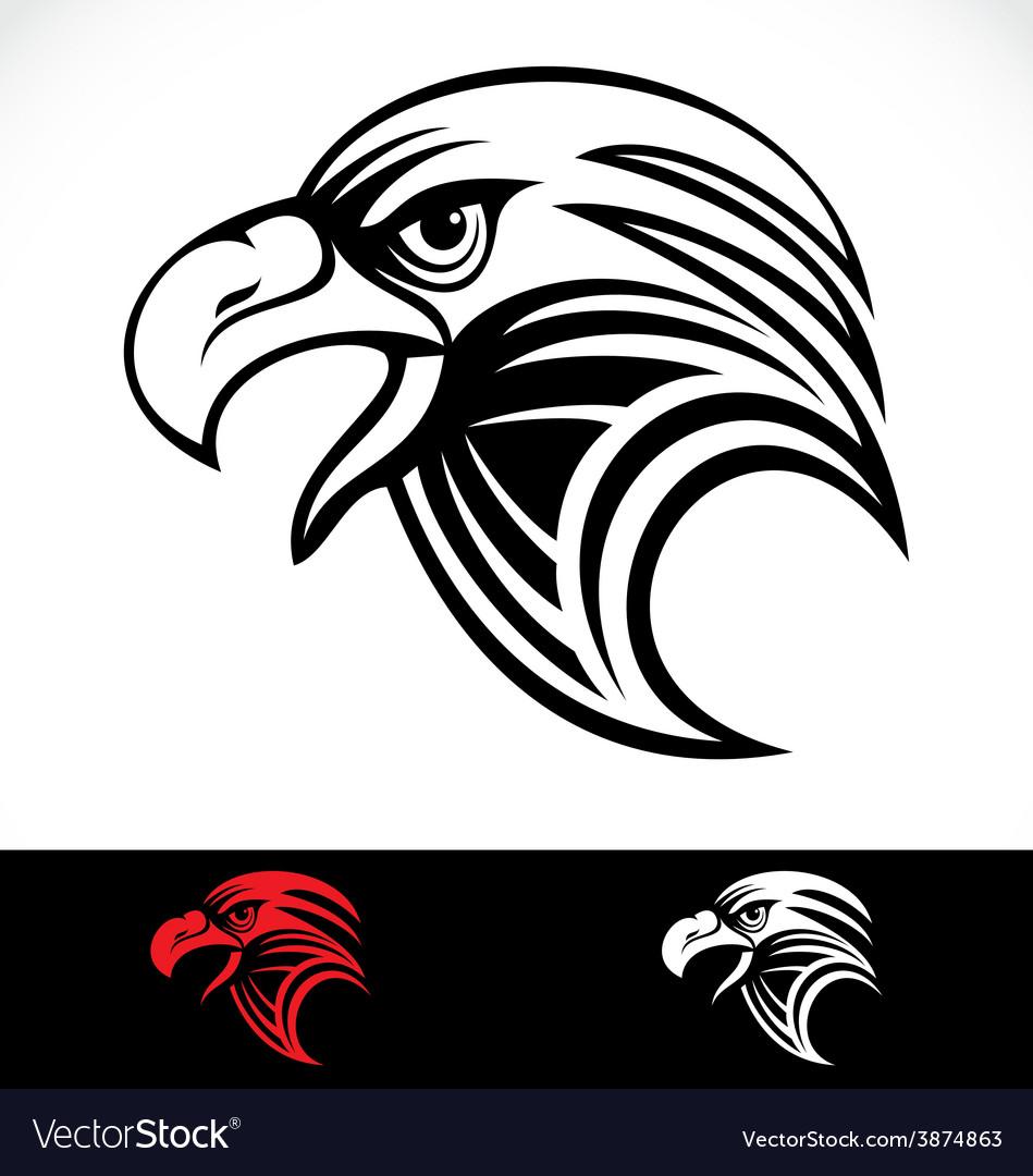 Eagles head mascot vector