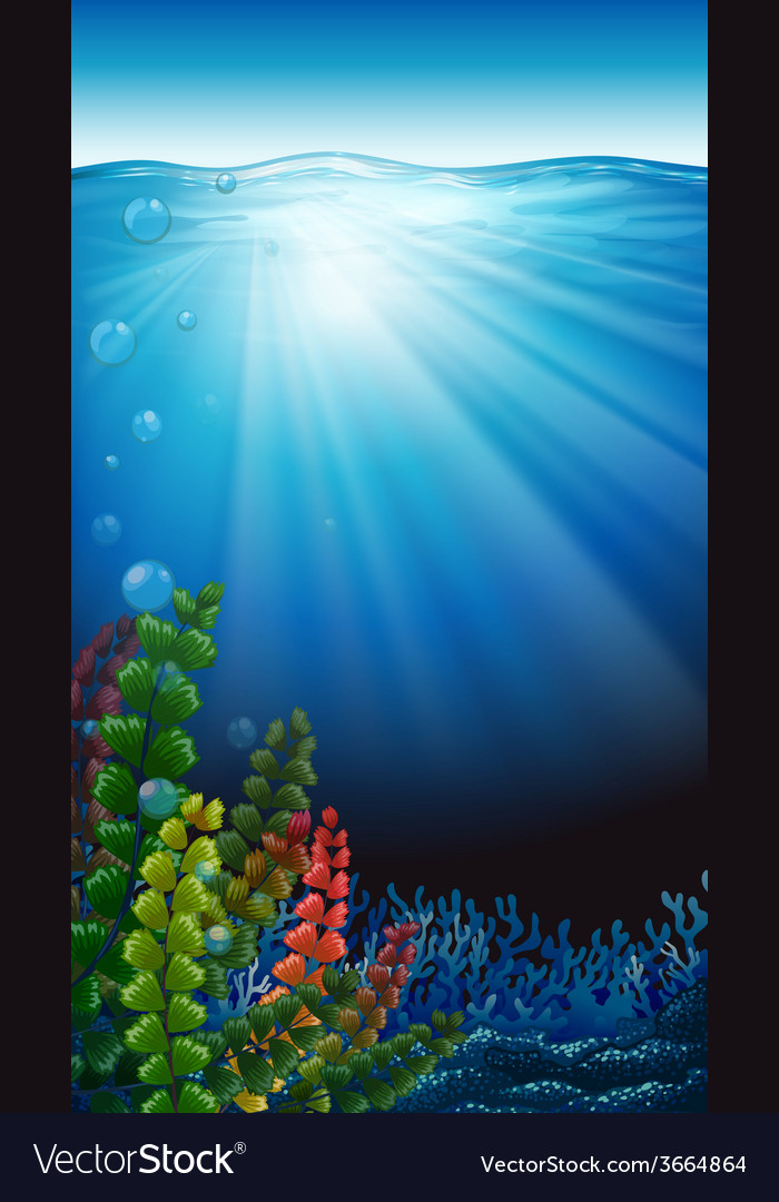 An underwater scenery vector
