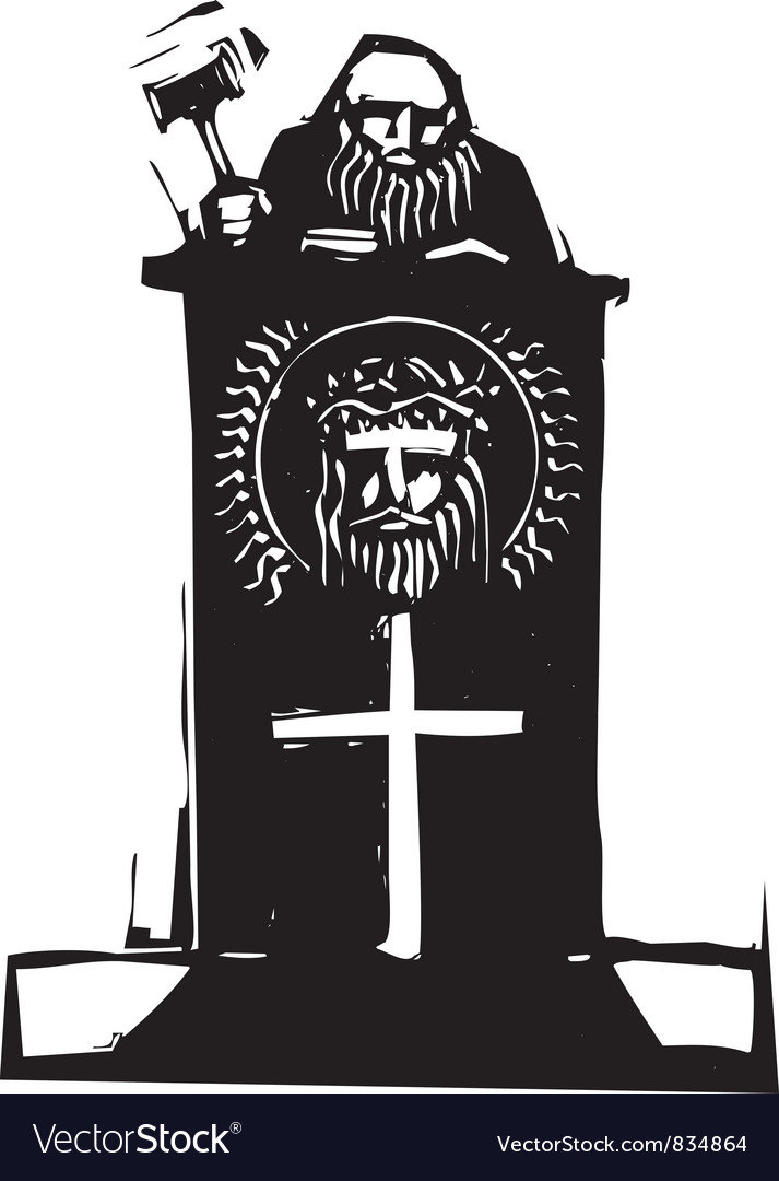 Religious judge vector