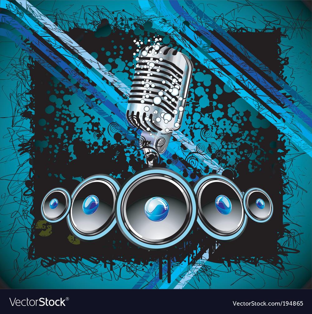 Grunge retro music background vector