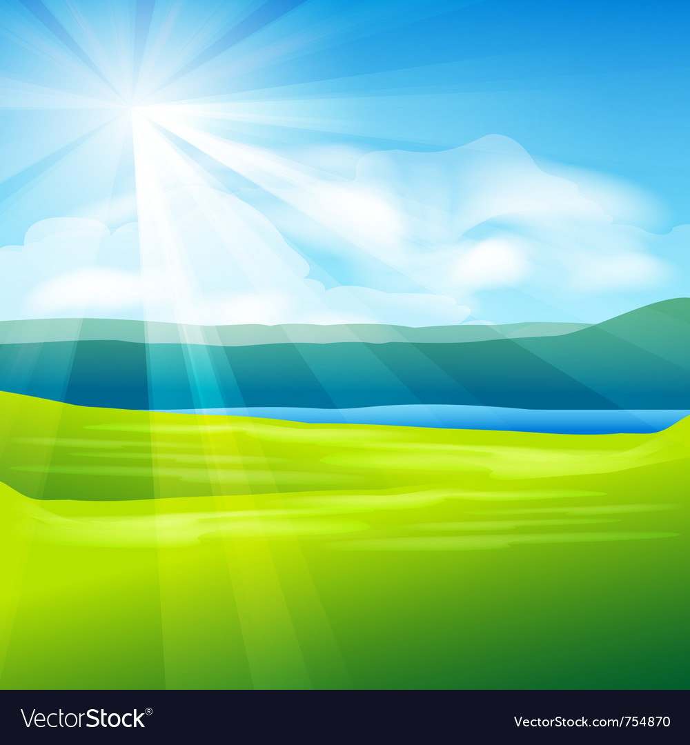 Abstract summer landscape vector