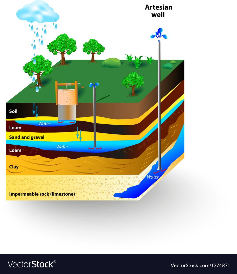 Artesian water vector