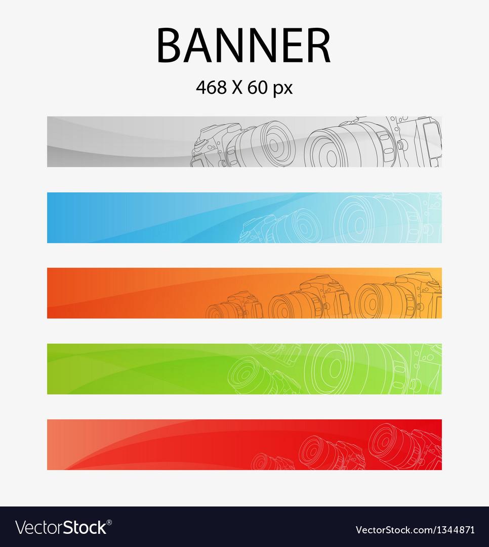 Digital camera banner vector