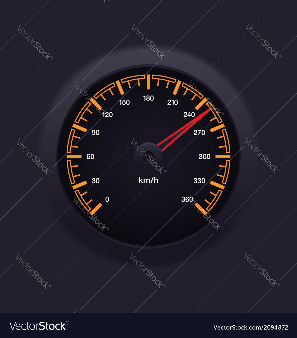 Speedometer orange vector