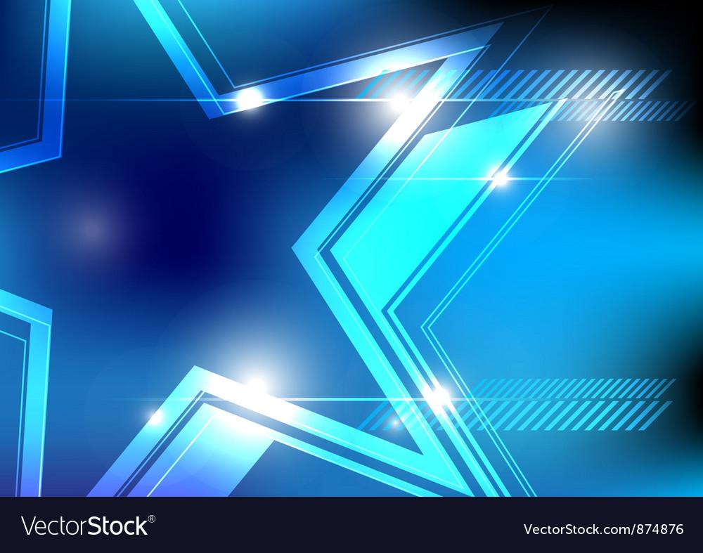 Shiny star background design vector