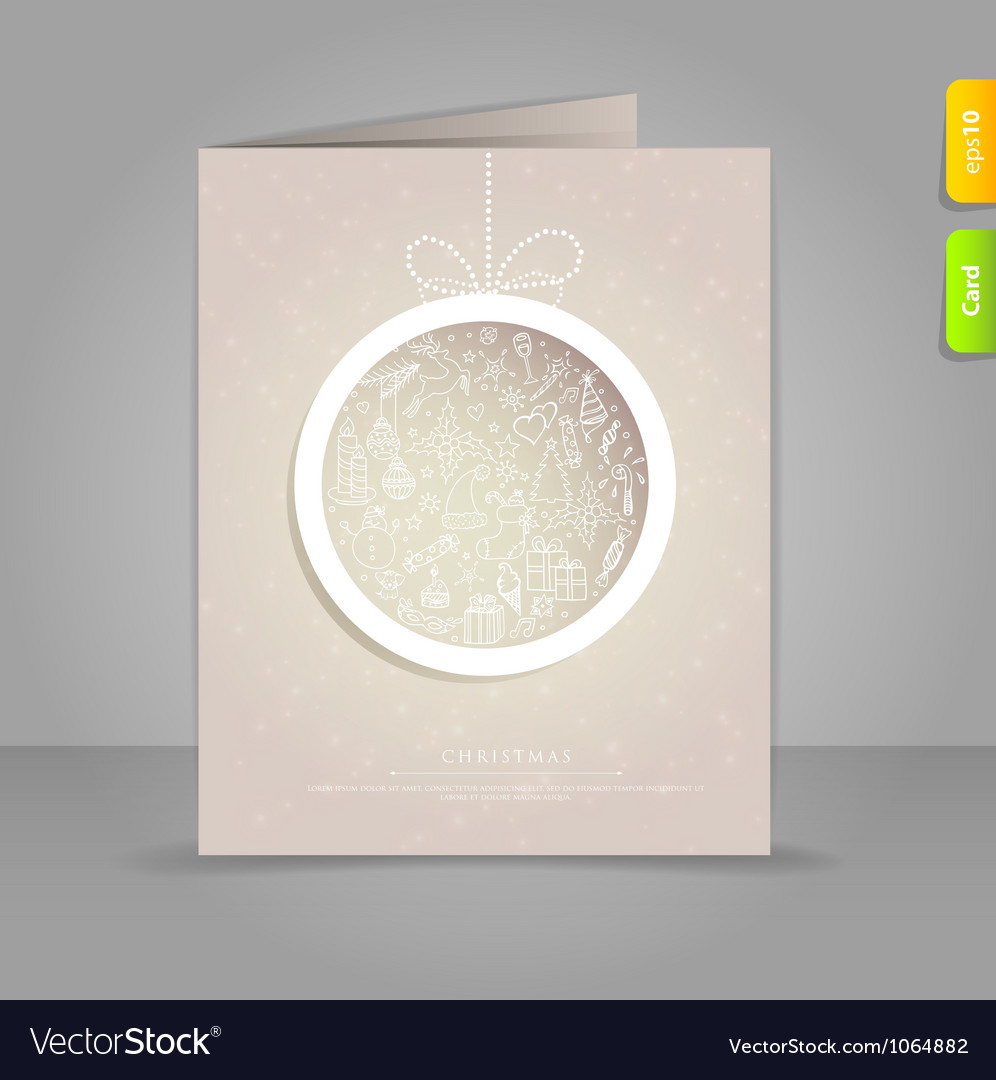 Xmas card vector