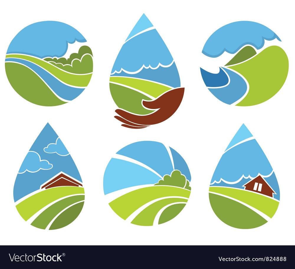 Ecological world vector