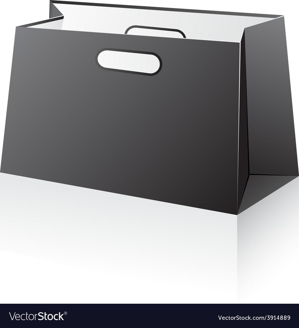Black shopping bag vector