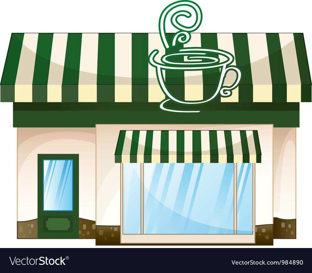 Cafe coffee house vector