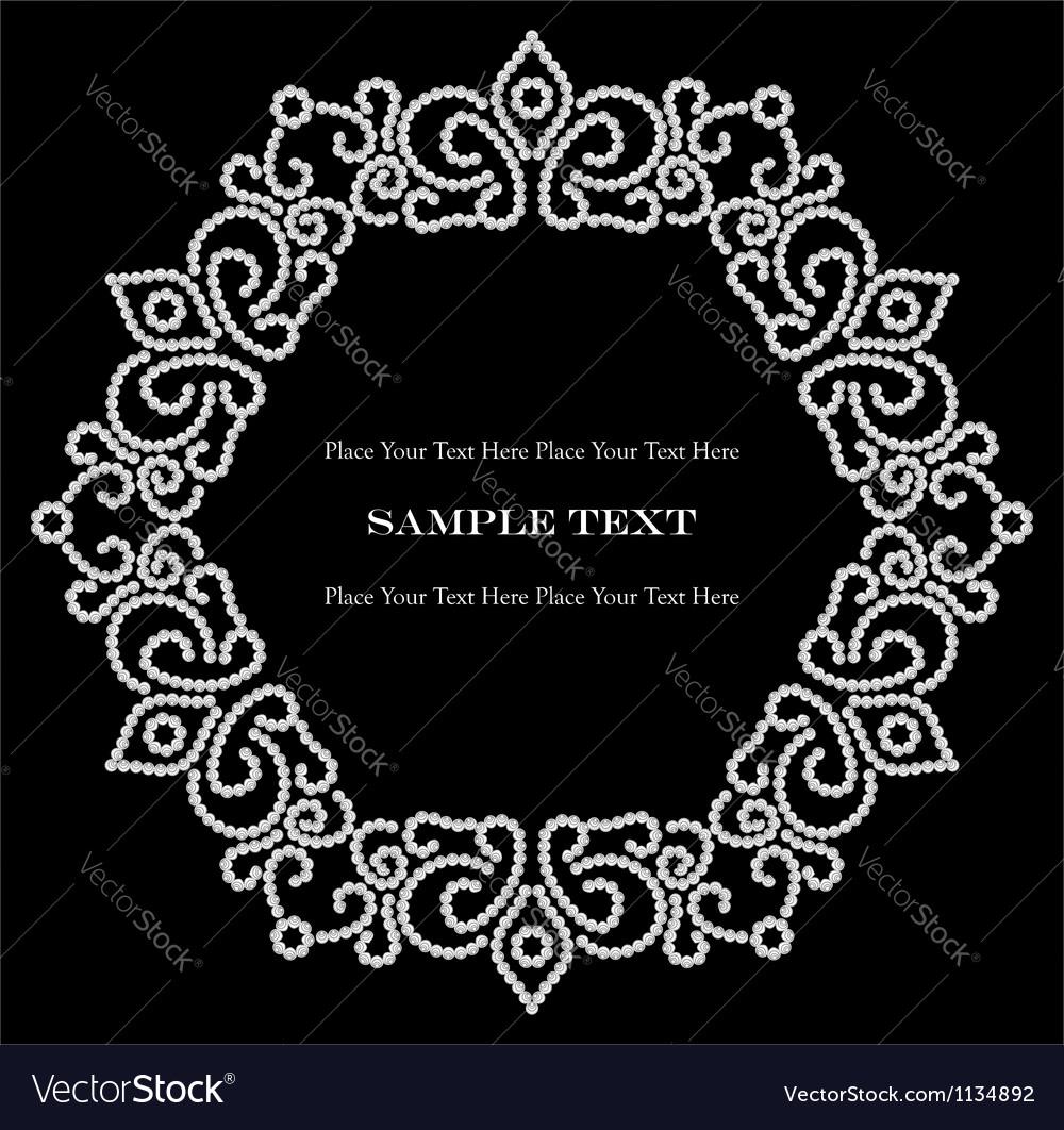 Jewelry vignette vector