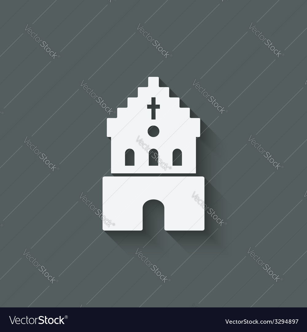 Catholic church religious symbol vector