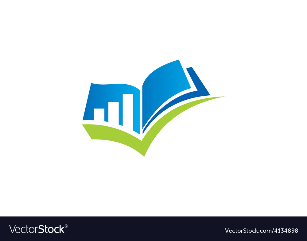 Plan finance book mark logo vector
