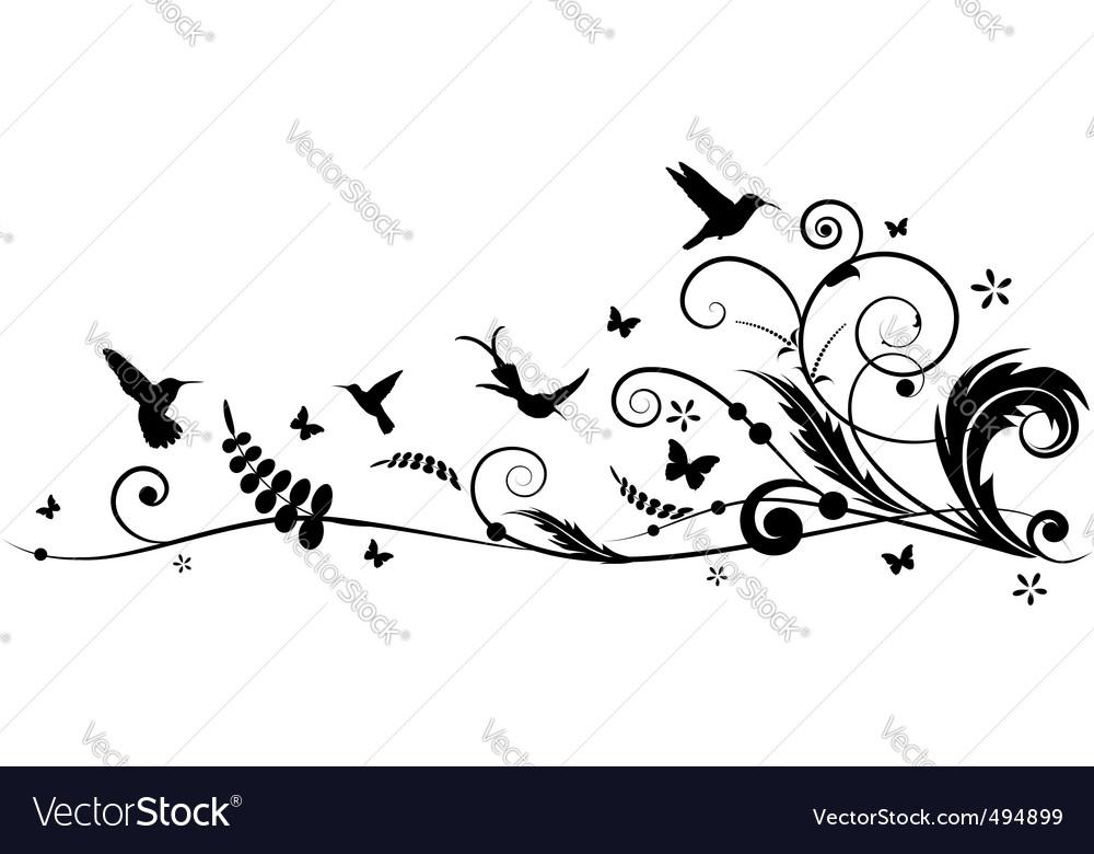 Humming bird design vector